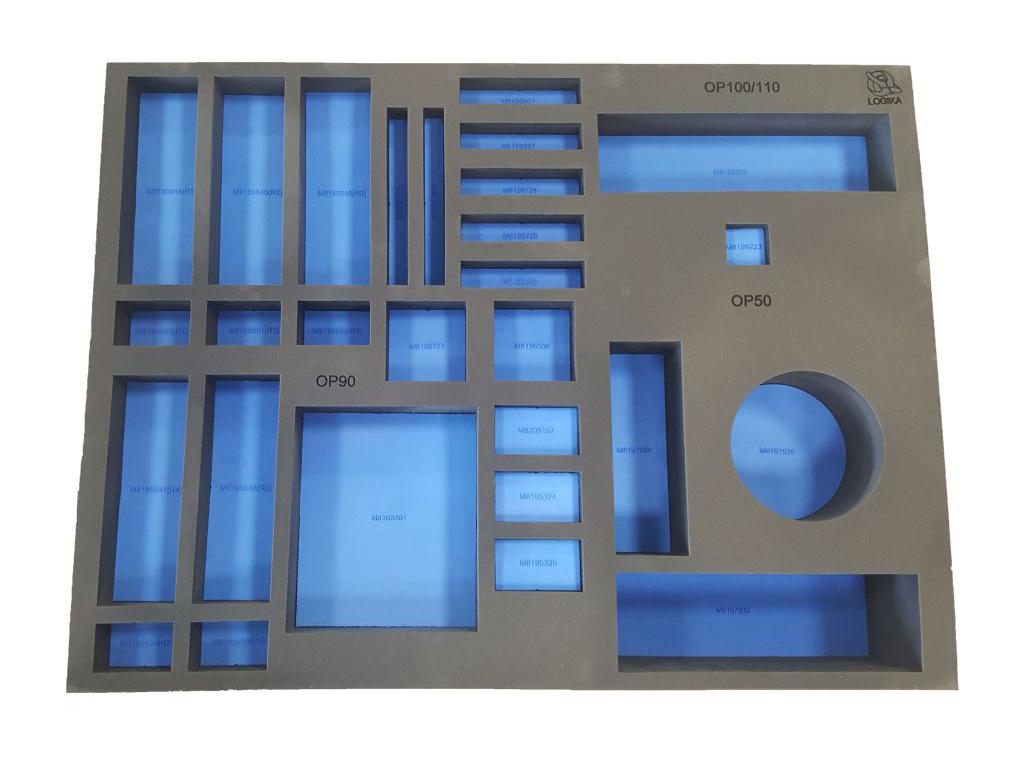 Termoformati vuoti per carrelli in polietilene e poliuretano